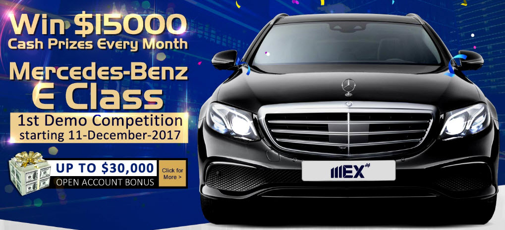Cuộc thi Forex tại MEX Group với giải thưởng xe Mercedes và 15.000 USD mỗi tháng